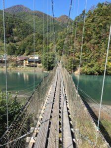 雨畑の吊り橋