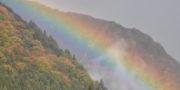 奈良田 古民家カフェ鍵屋周辺の紅葉の様子11/10